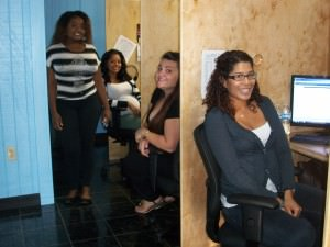 BDC employees Cherline Louis-Jean, Jeiry Parrilla, Ashley Smith, Vanessa Marrugo (left to right)