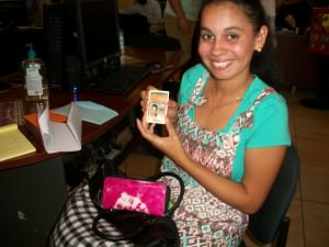 Selena Barrera proudly shows off her brand new drivers license