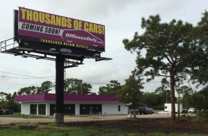Future home of Off Lease Only Orlando, slated to open on November 1, 2014