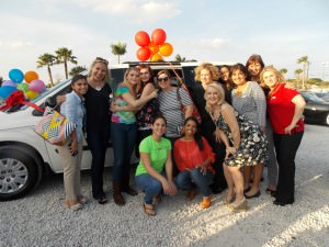 Heather Moorer and her huge support team that made the mini-van giveaway happen!