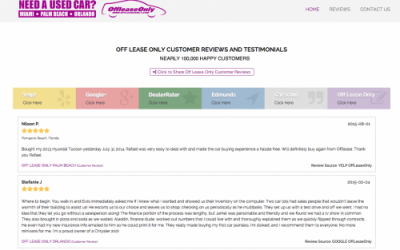 OffLeaseOnly Reviews and Customer Testimonials