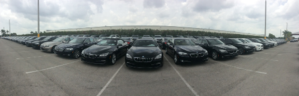 A huge selection of OffLeaseOnly used BMW models await buyers at OffLeaseOnly Miami
