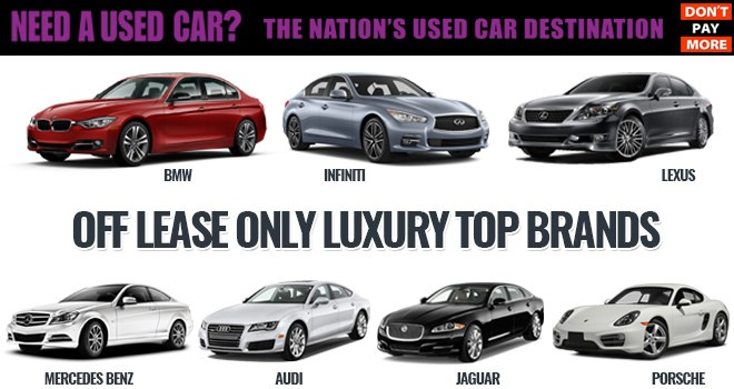 OffLeaseOnly Luxury Used Cars Top Brands