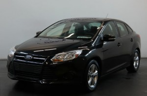 OffLeaseOnly's 100,000th  used car sold: a 2014 Ford Focus.