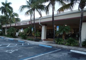 Future home of OffLeaseOnly Broward at 827 State Road 7 in Broward County. The site includes several buildings and a full-service auto body shop.