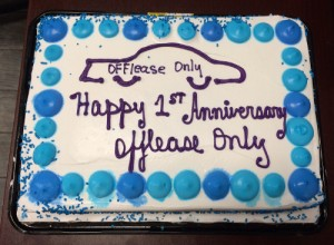 OffLeaseOnly Orlando employees celebrated the used car dealership's first fantastic year in Central Florida with a special cake!
