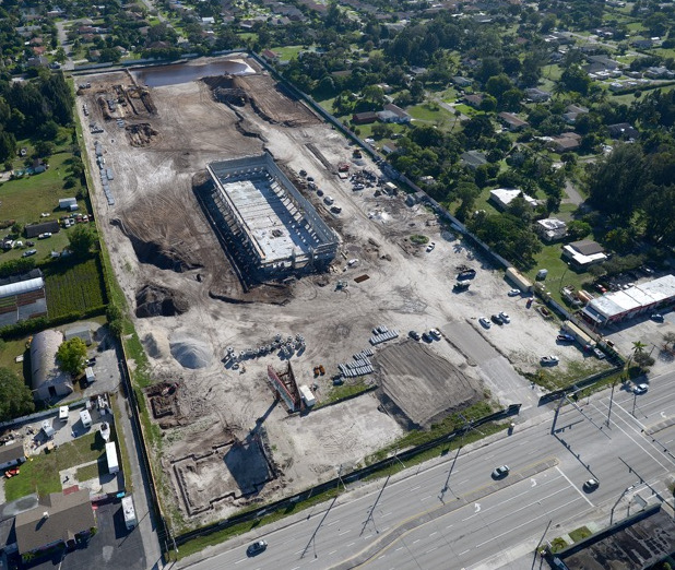 Off Lease Only's huge new Palm Beach dealership is under construction at 1200 S. Congress Avenue.