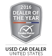 OffLeaseOnly Used Car Dealer of the Year- 2016- DealerRater