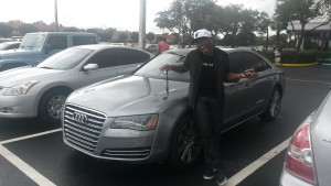 "Power 96.5 On-air Personality ""Big Lip"" & Proud Owner of OffLeaseOnly Audi A8"