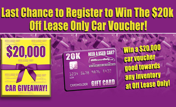 OffLeaseOnly 20K Used Car Voucher - Last Chance!