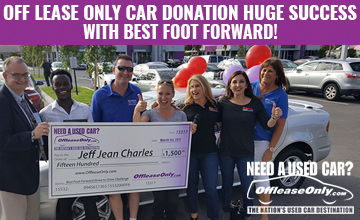 OffLeaseOnly Car Donation Huge Success with Best Foot Forward