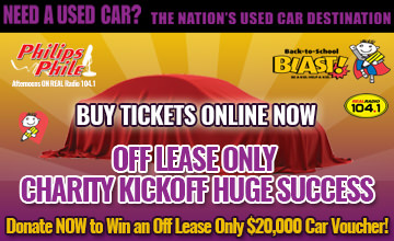 Donate NOW to Win an Off Lease Only $20,000 Car Voucher!