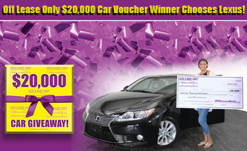 OffLeaseOnly 20K Voucher Winner Chooses Lexus