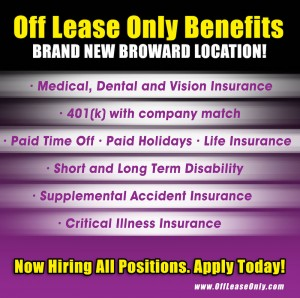 Off Lease Only Now Hiring All Positions
