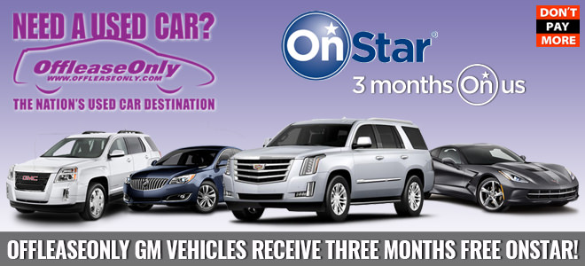offleaseonly gm vehicles receive three months free onstar. Black Bedroom Furniture Sets. Home Design Ideas