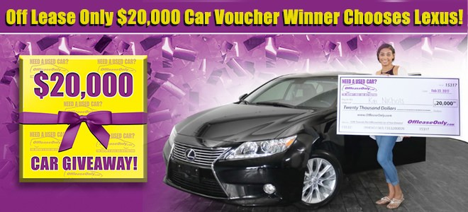 Off Lease Cars >> Off Lease Only 20 000 Car Voucher Winner Chooses Beautiful