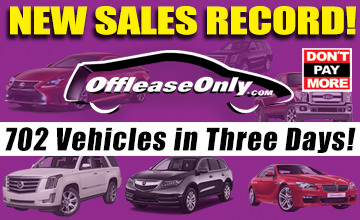 Off Lease Only New Sales Record