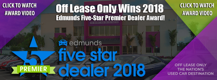 OffLeaseOnly 2018 Edmunds Premier Dealer Award