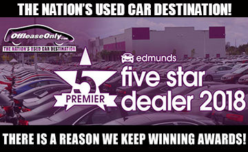 Off Lease Only 2018 Edmunds Premier Dealer Award