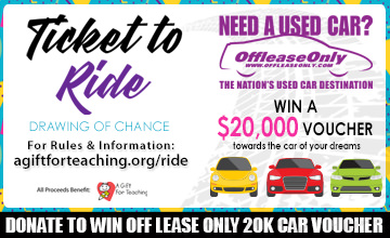 Off Lease Only Donate to Win 20k Voucher