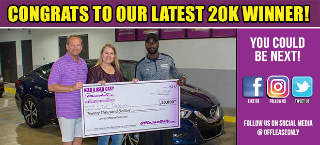Off Lease Only 2018 20k Car Winner