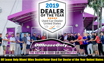Off Lease Only 2019 Dealer of the Year
