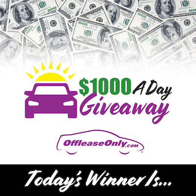 Off Lease Only $1000 A Day Giveaway