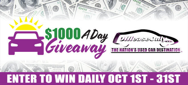 Off Lease Only $1000 Day Giveaway