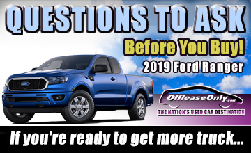Off Lease Only Used 2019 Ford Ranger