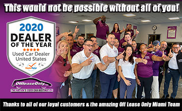 Off Lease Only 2020 Dealer of the Year