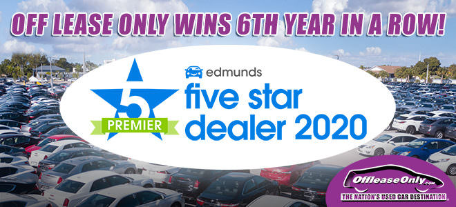 Off Lease Only Dealer of the Year - Edmunds 2020 Award