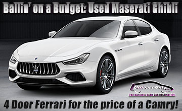 Off Lease Only Used Maserati for Sale